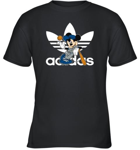 Adidas Logo Baseball Mickey Mouse Disney Youth T-Shirt