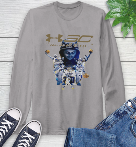 Stephen Curry I Can Do All Things Signature Long Sleeve T-Shirt 6