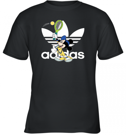 Adidas Logo Mickey Mouse Tennis Sports Youth T-Shirt