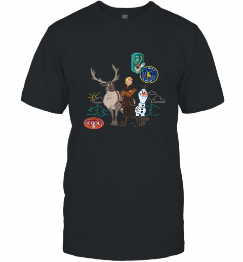 Disney Frozen 2 Olaf, Sven, and Kristoff Patches Men's T-Shirt