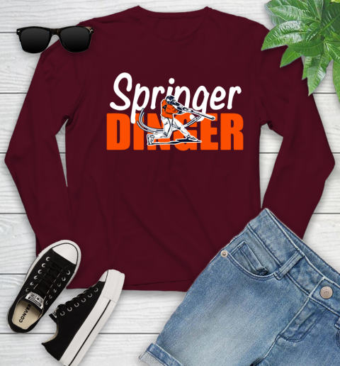 Houston Springer Dinger Fan Shirt Youth Long Sleeve 17