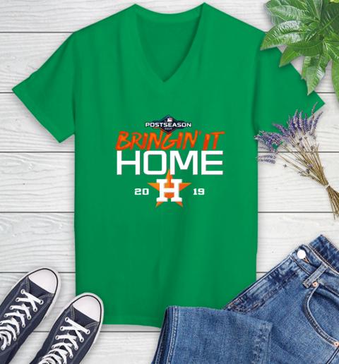 Bringing It Home Astros Women's V-Neck T-Shirt 5