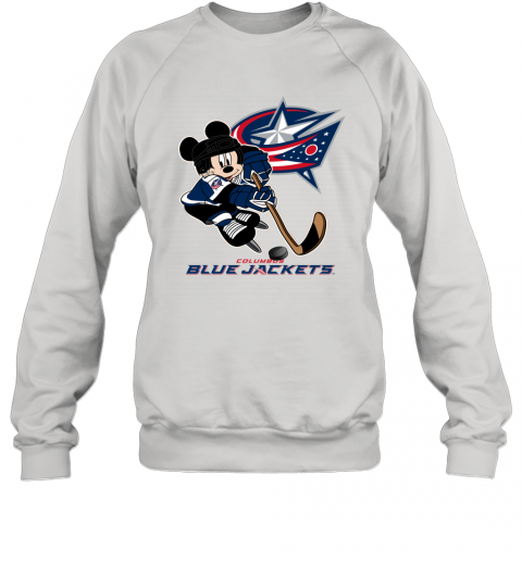 NHL Columbus Blue Jackets Mickey Mouse Disney Hockey T Shirt Sweatshirt