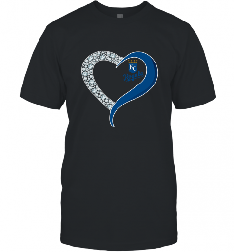 Diamond Kansas City Royals Heart shirt T-Shirt