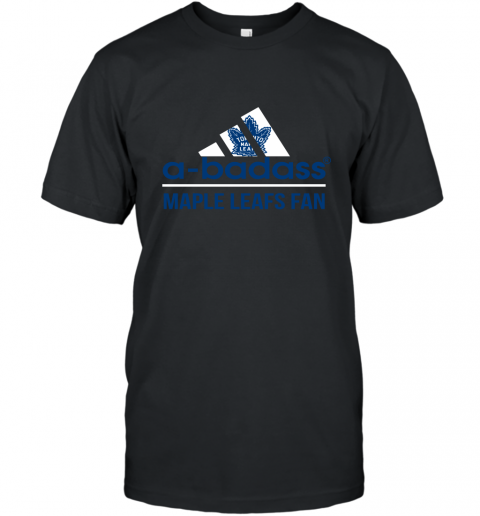 NHL A Badass Toronto Maple Leafs Fan Adidas Hockey Sports T-Shirt