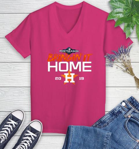 Bringing It Home Astros Women's V-Neck T-Shirt 9