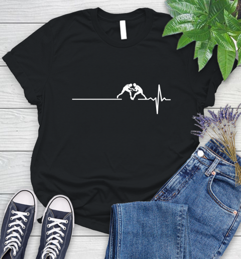 Wrestling This Is How My Heart Beats Women's T-Shirt
