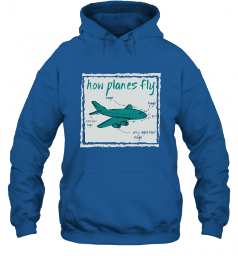 How Planes Fly Funny Aerospace Engineer T Shirt Hoodie