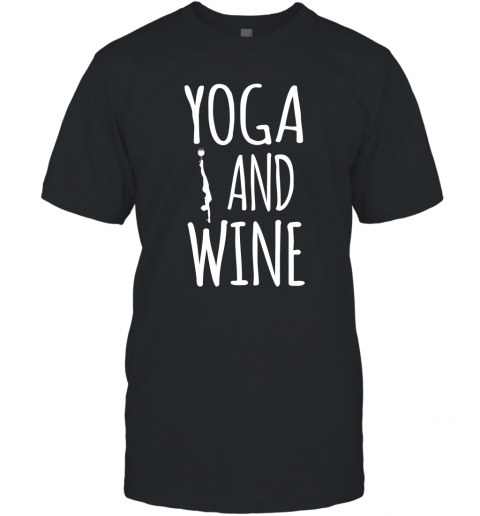 Yoga Meditation Namasta Funny Yoga and Drink Wine Pose T-Shirt