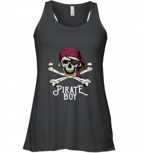 Pirate Boy Jolly Roger Crossbones & Skull Halloween Costume shirt Racerback Tank