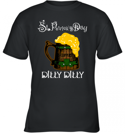 NBA Los Angeles Clippers St Patrick's Day Dilly Dilly Beer Basketball Sports Youth T-Shirt