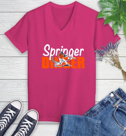 Houston Springer Dinger Fan Shirt Women's V-Neck T-Shirt 9