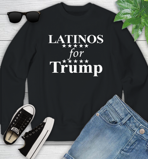 Latinos For Trump Youth Sweatshirt