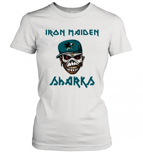 NHL San Jose Sharks Iron Maiden Rock Band Music Hockey Sports Women's T-Shirt