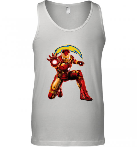NFL Iron Man Marvel Avengers Endgame Football Sports Los Angeles Chargers Tank Top