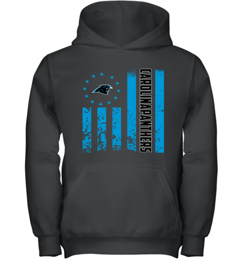 low priced eafb0 14304 NFL Carolina Panthers lOGO American Flag Youth Hoodie