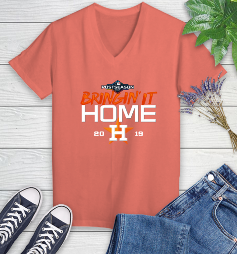 Bringing It Home Astros Women's V-Neck T-Shirt 6
