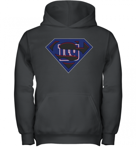 NFL New York Giants LOGO Superman Youth Hoodie