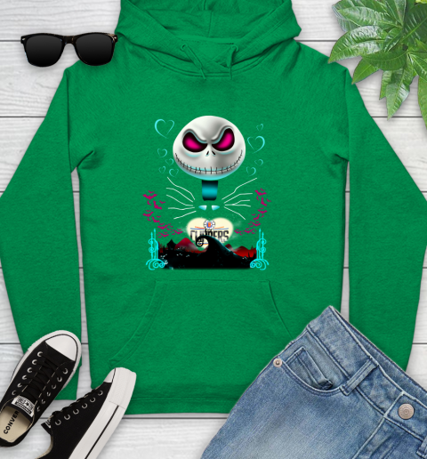 NBA Los Angeles Clippers Jack Skellington Sally The Nightmare Before Christmas Basketball Sports_000 Youth Hoodie 9