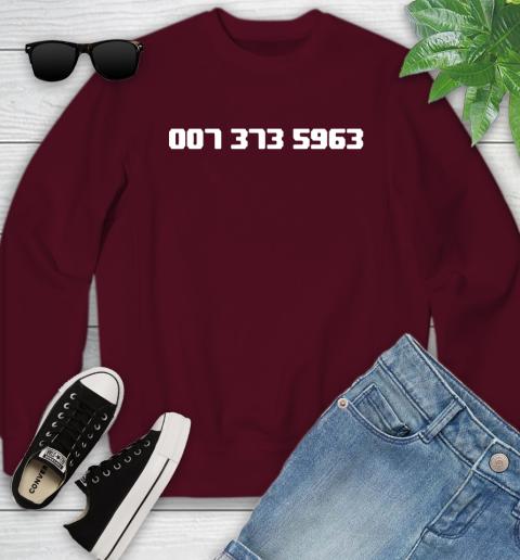 007 373 shirt Youth Sweatshirt 4