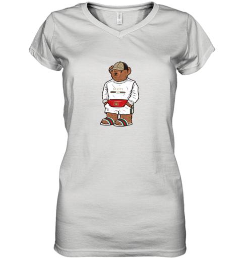 Life's Gucci Bear Women's V-Neck T-Shirt