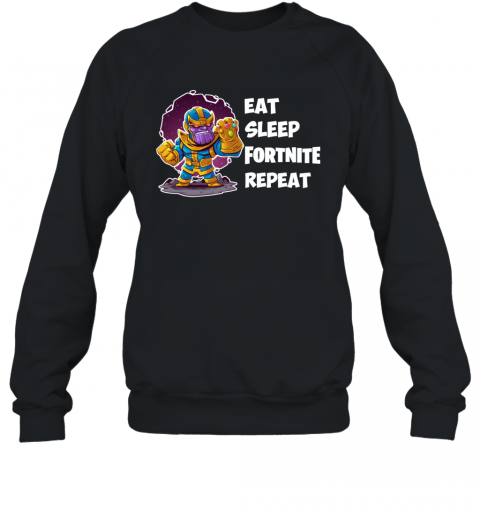 Fornite Game EAT SLEEP FORNITE REPEAT Sweatshirt