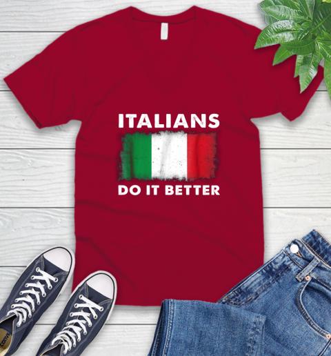 Italians Do It Better V-Neck T-Shirt 7
