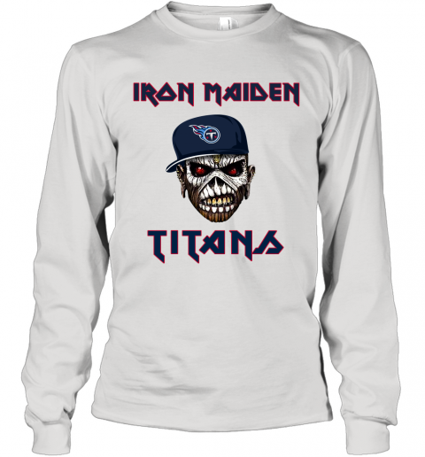 NFL Tennessee Titans Iron Maiden Rock Band Music Football Sports Long Sleeve T-Shirt
