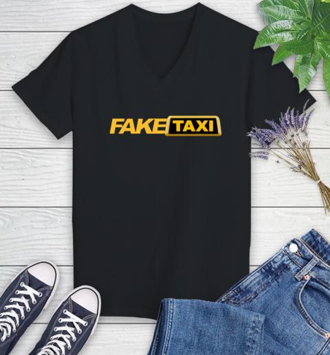 Fake taxi Women's V-Neck T-Shirt 2
