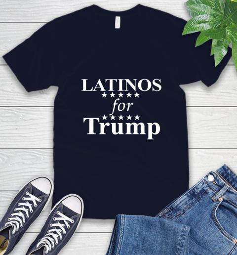 Latinos For Trump V-Neck T-Shirt 2