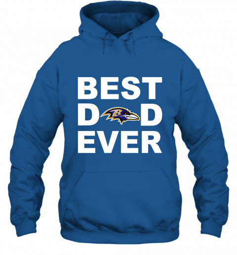 Best Dad Ever Baltimore Ravens Fan Gift Ideas Hoodie
