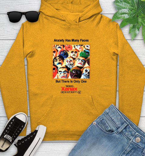 Anxiety Has Many Faces Xanax Promotional Shirt Youth Hoodie 2