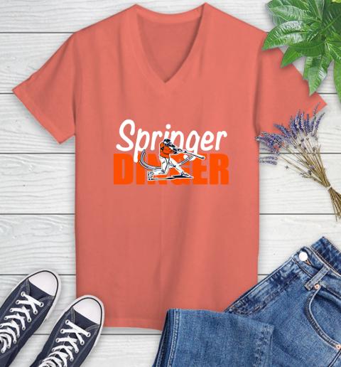 Houston Springer Dinger Fan Shirt Women's V-Neck T-Shirt 6