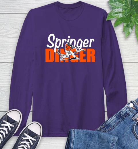 Houston Springer Dinger Fan Shirt Long Sleeve T-Shirt 5