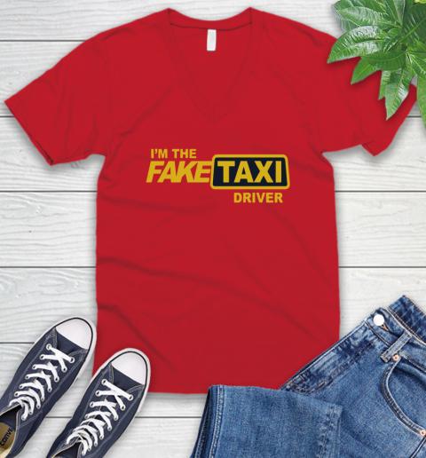 I am the Fake taxi driver V-Neck T-Shirt 7