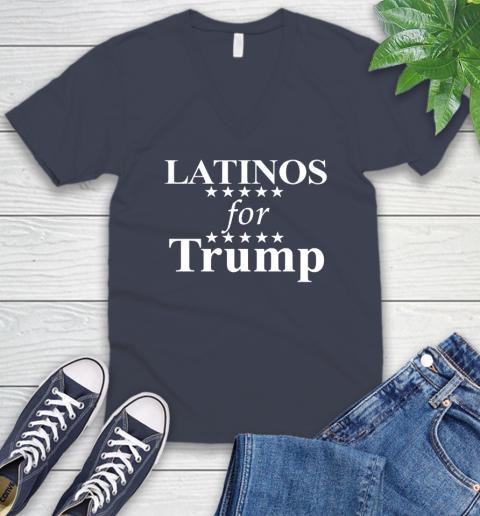 Latinos For Trump V-Neck T-Shirt 8