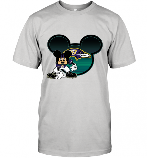 NFL Baltimore Ravens Mickey Mouse Disney Football T Shirt T-Shirt