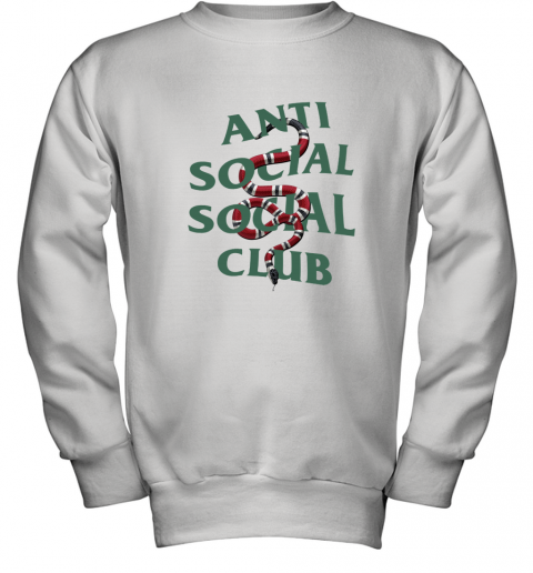 Anti Social Social Club ASSC Gucci Snake Youth Sweatshirt