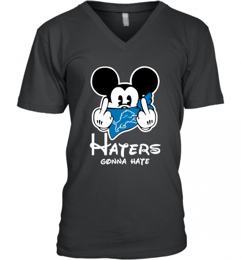 NFL Detroit Lions Haters Gonna Hate Mickey Mouse Disney Football T Shirt V-Neck T-Shirt