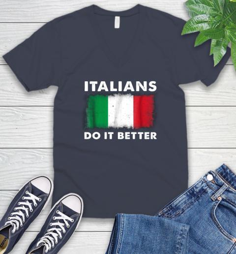 Italians Do It Better V-Neck T-Shirt 8