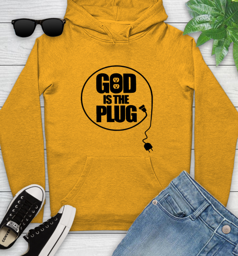God is the plug Youth Hoodie 2