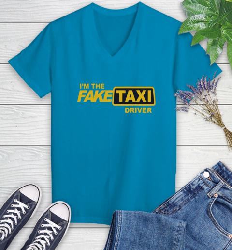 I am the Fake taxi driver Women's V-Neck T-Shirt 7