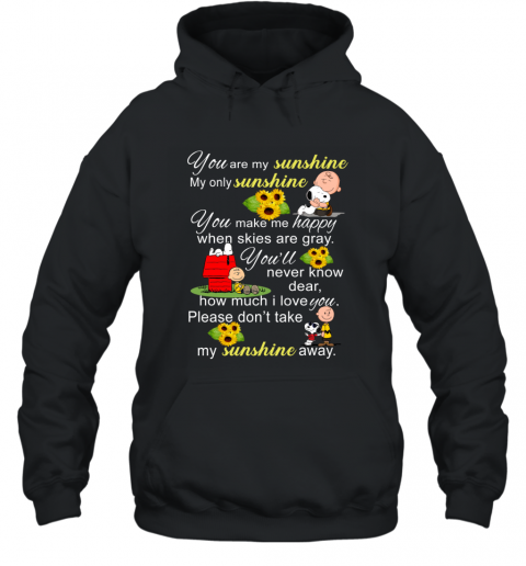 You Are My Sunshine Snoopy Charlie Brown Ugly Hoodie