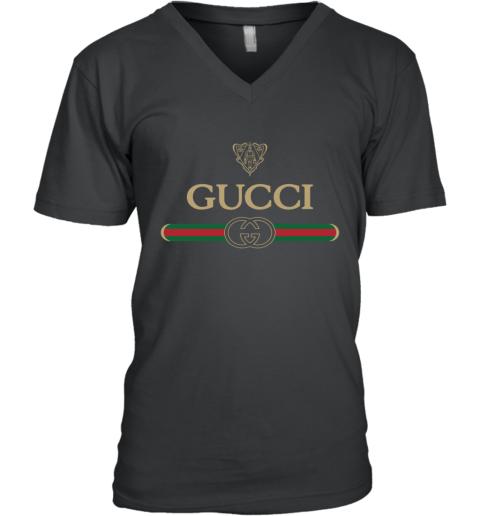 Gucci Vintage Logo V-Neck T-Shirt