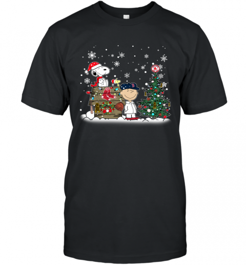 MLB Boston Red Sox Snoopy Charlie Brown Christmas Baseball Commissioner's Trophy Sports T-Shirt