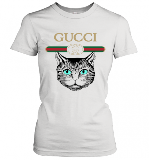 Gucci Logo Black Cat Secret Women's T-Shirt