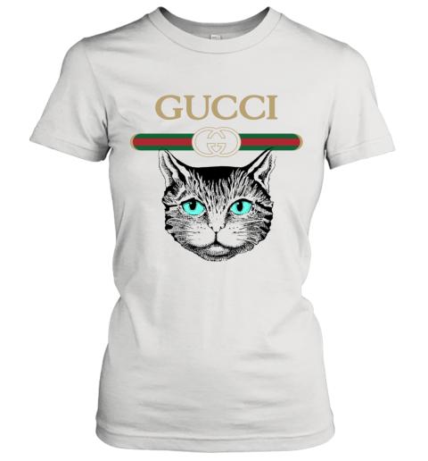 Gucci Logo Black Cat Secret Women's T-Shirt
