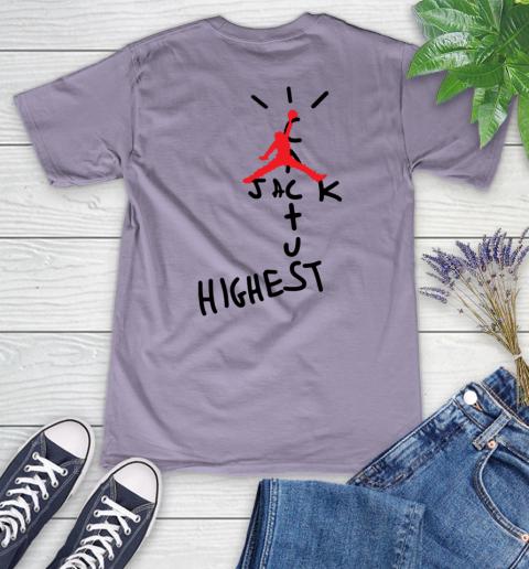 Travis Scott Cactus Jack Jordan Highest Women's V-Neck T-Shirt 18