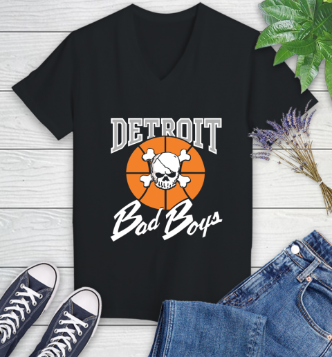 Detroit Bad Boys Women's V-Neck T-Shirt