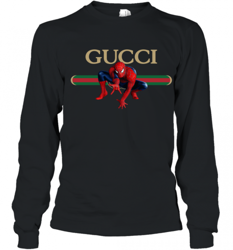 Gucci Logo Spiderman Youth Long Sleeve T-Shirt